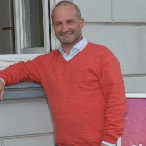 Kai Koeser, OV Vorsitzender vor SPD Lokal, 2019