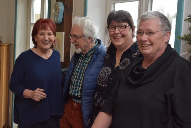 Gudrun Grams, Jochen Erhardt, Sigrid Koppelmann und Inge Ahrens bei der Klausur des Ortsvereinsvorstandes SPD Stade