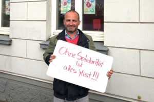 """Kai Koeser: """"Ohne Solidarität ist alles Mist""""!"""