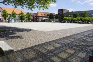 Platz am Sande in Stade, Blick aus Richtung Poststraße