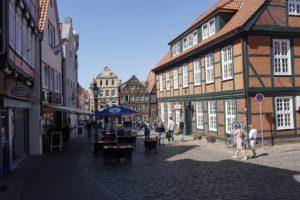 Weinlager am Fischmarkt, Historische Altstadt Stade, Mai 2020