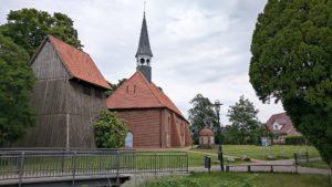 Kirche Sankt Nicolai, Bützfleth, Stade, Blick über Hörne Götzdorfer Kanal