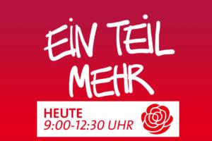 HEUTE! Ein Teil mehr. Aktion der SPD Hansestadt Stade für die Stader Tafel. Grafik 2020
