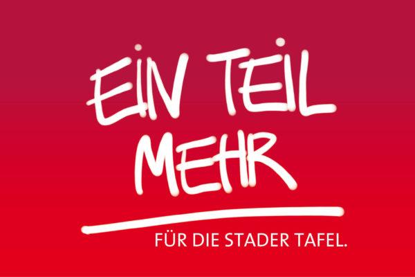 Ein Teil mehr. Aktion der SPD Hansestadt Stade für die Stader Tafel.