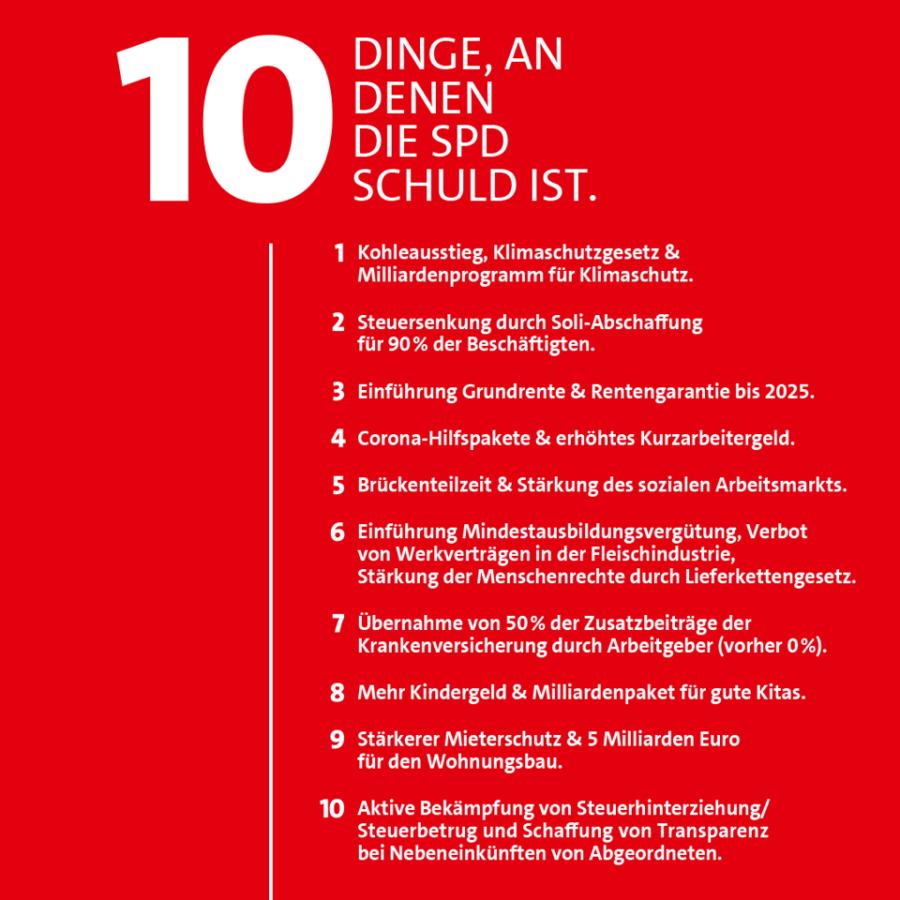 10 Dinge, an denen die SPD Schuld ist