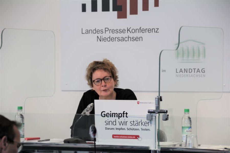 Die niedersächsische Gesundheitsministerin am 27. Juli 2021 bei der Vorstellung der Corona-Impfkampagne des Landes Niedersachsen.