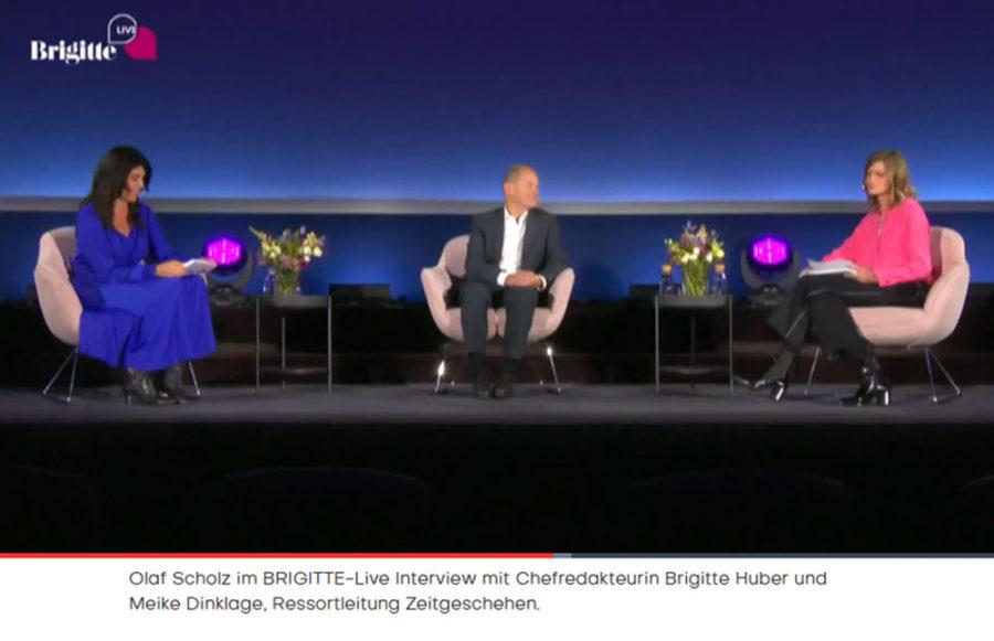 Screenshot Brigitte.de zur Veranstaltung Brigitte Live mit Olaf Scholz