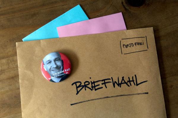 Umschläge zur Briefwahl 2021 - Kommunalwahl im Landkreis Stade und Bundestagswahl 2021